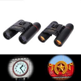 Wholesale Coat Definition - High Definition Night Vision Mini Folding Binoculars 30X60 Blue Red Film Coating Zoom Optical Len Binocular Telescope