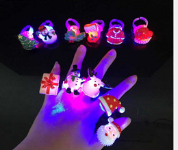 Wholesale China Wholesale Children Toys - hot sell new Christmas Flash ring resin LED shine ring children cartoon ring sparkling toy mix style