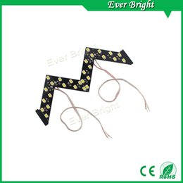 Wholesale Smd Led Arrow - NEW!!1 pair 14 SMD Sequential Led Lights Car Turn Side Signal Arrows Lamp Arrow turn signal Indicator Safe led Panels mix order