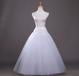 Wholesale High End Wedding Gowns - Wholesale hot Bridal wedding accessories Four layers high-end wedding dress without bone Net Yarn petticoat QC04