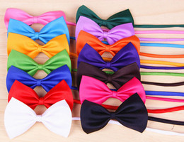 Wholesale Small Animal Wholesale Supply - 500pcs lot Cool Pet Dog Cat bow tie neck tie doggy puppy bows necklace neckties small animals neck bows ornaments supply