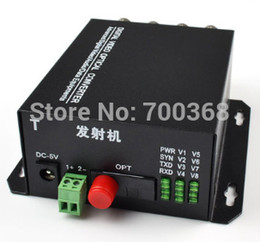 Wholesale Digital Fiber Video Media - Wholesale-8Ch Video Data Fiber Media Converter Digital fiber Optical video Transmitter Receiver System with RS485