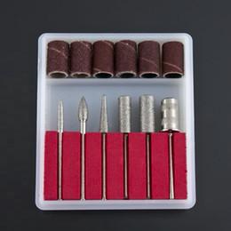 Wholesale Drill Beauty - Wholesale-5set Professional Nail Art Beauty Salon Nail Manicure Drills Files Bits Set Kit Hot Selling