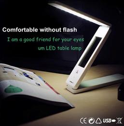 Wholesale Desk Calendar Lamp - White 30 LED Foldable Rechargable Reading Desk Table Lamp Light Touch Control switch rechargable dimmable foldable with calendar DK712LD