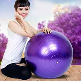 Wholesale Purple Yoga Balls - Wholesale-Exercise Balance Yoga Gym Fitness Fitness Ball Aerobic Abdominal 65 cm MD486