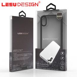 Wholesale Brown Phone - LEEU DESIGN anti shock custom clear hard acrylic TPU hybrid shockproof case luxury mobile phone cover for apple iphone x 7 8 plus s8 plus