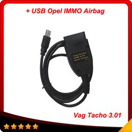 Wholesale Vag Usb - 2016 Hot promotion and free shipping Vag Tacho 3.01+ Immo Tacho USB Cable OBD Auto diagnostic scanner cable free shipping