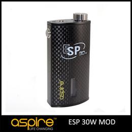 Canada Prévente d'origine Aspire ESP 30 W BOX Mod Tension Réglable 1900mah Batterie 510 Fil Mignon Aspire Box Mod pour E Cigarettes Atomiseur Offre