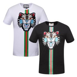 Wholesale Quick Cats - 90KG Allow Popular T-Shirt For Men Tee Euro American Hot Sale Embroidery Cat T Shirt Guy Trim Fit