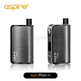 Wholesale Elegant E Cigarette - Wholesale - Genuine Aspire Plato 50W Temp Control Box Mod 2 In 1 E Cigarette Kit Sleek & Elegant Plato Aspire VS Kanger NEbox