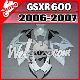 Wholesale Suzuki Gsxr Fairing K6 - In Stock Welmotocom Injection Mold Unpainted(Unpolished) Fairings For Suzuki GSXR600 GSX-R 600 GSXR 600 750 2006 2007 06 07 K6 S66W00
