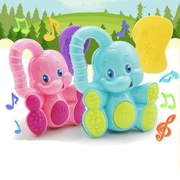Wholesale Musical Bells For Children - 1pc Kawaii Deer Elephant Animal Plastic Hand Jingle Shaking Bell Rattles Toddler Educational Musical Kids Baby Toys For Children