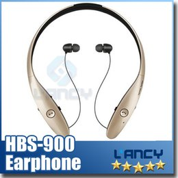 Wholesale Lg Tone Wireless Bluetooth - HBS 900 HBS-900 Tone+ Wireless Sport Neckband Headsets In-ear Headphone Bluetooth Stereo Earphones For iphone5 6 plus Galaxy 5S S4