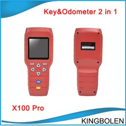 Wholesale car mileage odometer correction - X100 X-100 Auto key programmer X 100 pro Mileage correction tool EEPROM Chip read Tool Online Update car odometer correction by OBD cable