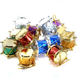 Wholesale Wholesale Clear Acrylic Christmas Ornaments - Christmas Plastic Bongos Christmas Decoration Santa Claus Decor Christmas Decorations Clear New Year Christmas Baubles