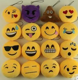 giocattoli morbidi di emoticon Sconti Emoticon divertente divertente della catena chiave del pendente del regalo del pendente del regalo del giocattolo del fumetto della peluche
