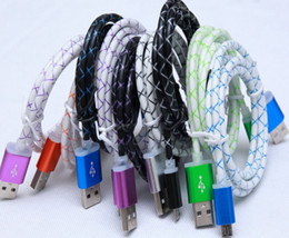 Wholesale High Speed M FT Dragon Steel Net Mesh Micro USB Charger Cable Durable Faster Data Sync Charging for Samsung Galaxy S4 S5 HTC Sony Blackber