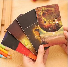 Wholesale dreams book - Wholesale- 8pcs lot Japan classic Cartoon Creative cute Dreaming girl notebook  diary   A5 book   Office & School Supplies GT160