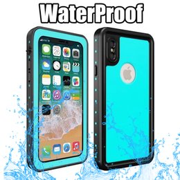 Wholesale Iphone Slim Armor Retail - Waterproof Armor Case For IPhone X IphoneX Redpepper Dot Series IP68 Swimming Slim Dustproof Shockproof Phone Full Cover with Retail package