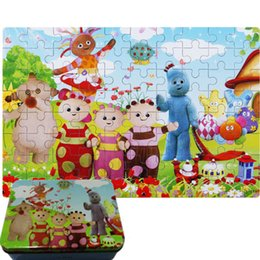Wholesale Garden Night Toy Kids - In The Night Garden Baby Development toy jigsaw kids wooden puzzle toys iron case ( 80pcs a kit )