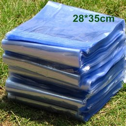 Wholesale 28 cm quot Soft Transparent Blow Molding PVC Heat Shrinkable Bags Shrink Film Wrap Cosmetic Packaging Wrap Materials Plastic Bag