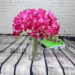 Wholesale Plastic Flowers Orchid - Mix color Artificial Butterfly orchid Blossom flower branch home garden shop wedding decoration Christmas 50pcs lot Christmas decoration