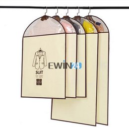 Wholesale New Style Garments - Garment Storage Bag Clothes Dustproof Cover 3 different styles Dress Suit Coat Nonwoven New Hot Selling