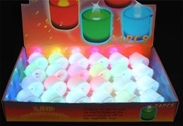 Wholesale Plastic Led Electronic Candle - LED wedding tealights electronic candle light party event flameless flickering battery candles plastic Home Décor colorful