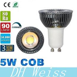 Garantie 3 ans Le CREE a mené l'ampoule 5W GU10 Dimmable d'ampoules de lampe CRI85 de blanc chaud / froid d'ampoule menée par 120 degrés mené AC110-240V ? partir de fabricateur