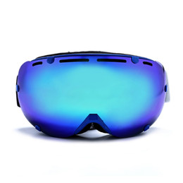 Wholesale Snowboard Skate Goggles Glasses - Professional Ski Goggles Glasses Double Lens UV400 Anti-fog Snowmobile Snowboard Skate Snow Skiing Snowboarding Goggles Lenses Optical Attri