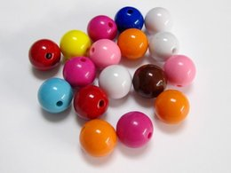 Wholesale Bubblegum Candy - fashion necklace &pendant ball500pcs candy Mixed Bubblegum Color Acrylic Round Beads 10mm Smooth Ball jewelry accessories sewing