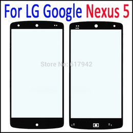 Wholesale Outer For Nexus - Outer Screen Digitizer Cover Glass for LG Google Nexus5 Black Front Glass Lens Replacement for LG Nexus 5 D820 D821