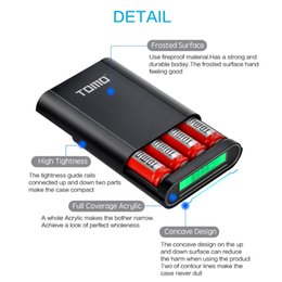 Wholesale External Battery Charger Note - TOMO M4 Battery Charger 4*18650 Power Bank External USB Charger with Intelligent LCD Display for iPhone X Samsung S8 Note 8