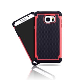 Wholesale Impact Protectors - Football Grain Hybrid Dual Protector Rugged Impact Rubber Matte Robot Silicon + PC Hard Case Cover for Samsung Galaxy Note 5 Note5 N9208