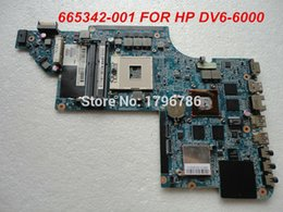 Wholesale Hp Motherboard Sale - Wholesale-Hot sale laptop motherboard for HP DV6-6000 665342-001 motherboard Intel Non-integrated DDR3 100% test and free shipping