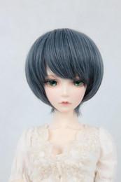 1/3 1/4 1/6 Bjd boneca cinza branco cabelo curto peruca fio de alta temperatura de