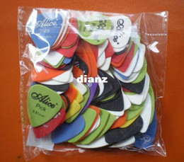 Wholesale Electric Bass Picks - Hot 30pcs lot Bass Guitar Picks Alice Smooth ABS Custom Acoustic Electric Guitarra Plectrums Musical Instrument Puas
