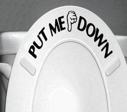 sticker toilet Coupons - ''PUT ME DOWN'' Funny decorative waterproof vinyl toilet stickers Bathroom Home Decor Wall Art Decal Free Shipping ZYVA-329