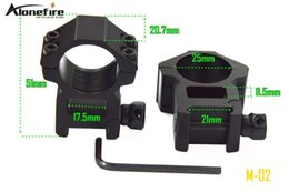 Wholesale 21mm Ring Mount - AloneFire M-02 Scope Barrel Mount 25mm Ring Adapter 20mm 21mm Weaver Picatinny Rail ( 1 pair )