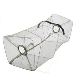 Wholesale Nylon Cast Fishing Net - 50 * 21 * 21cm Foldable Nylon Fishing Net Floding Crab Fish Crawdad Shrimp Minnow Fishing Bait Trap Cast Dip Net Cage Y0346