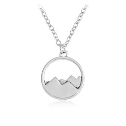 gift range Promo Codes - Wholesale- QIHE JEWELRY Dainty Mountain Top Pendant Mountain Range Charm Mountain Necklace Nature Jewelry Gift For Hiker