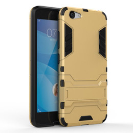 Wholesale Vivi Case - 2in1 Armour Anti Knock Hard PC Silicone Hybrid Back Case Cover For Vivo Y53   X7 Y66 X6 X9 VIVI X PIAY 6 VIVI X9 PIUS