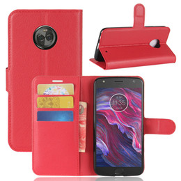 Wholesale Play Wallets - For MOTO X4 Litchi lychee PU +TPU wallet leather phone cover Case card holder For MOTO E4 USA version Z2 play