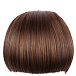Canada Frange Synthétique Frange Synthétique Résistant À La Chaleur Synthétique Cheveux Femmes Naturel Faux Cheveux Frange Femmes Rangée Clip Dans Des Cheveux Morceaux Offre