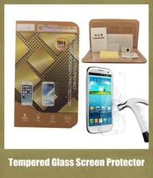 Discount cell phone packaging - iphone 6 glass screen protector touch screen tempered glass cover for iphone 5 iphone 4 cell phone screen protector with packaging SSC004