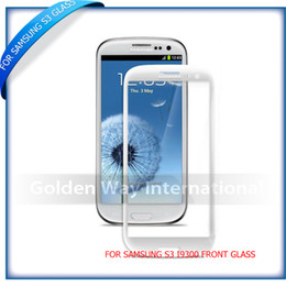 Wholesale Galaxy S3 Outer Screen Replacement - Wholesale-Front Screen Lens Outer Glass For Samsung Galaxy S3 i9300 Replacement Repair Part Black White Blue 10pcs lot Free Shipping