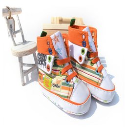 Wholesale Top Design Wholesale Shoes - Fashion Design Baby High-top Shoes Toddler Girls Colorful Graffiti Canvas Shoes Outdoor Infant Sqpatos KS81205-100