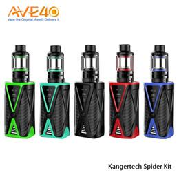 Kanger caixa mod bateria on-line-Authentic Kanger Aranha Kit 200 W TC Box Mod com Cinco 6 Mini Tanque 2 ml 4 ml de Capacidade Construído em 4200 mAh Bateria
