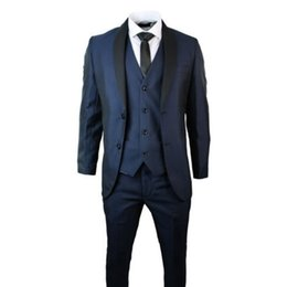 Wholesale Men Dress Vests Grey - Wholesale-custom made Tux Ball Gowns Men's Three-Piece Groom Wedding Dress Suit 2 Button Notch Lapel Wedding (jacket+pants+vest)  ok22.