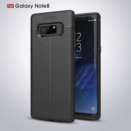 Wholesale Litchi Phone Case - Phone Case For iPhone X 10 8 7 6s Plus 5SE Leather Business Style Litchi Pattern PU Soft TPU Silicone Cover Case For Samsung Galaxy S8 Note8